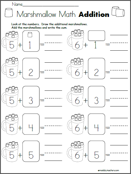 Marshmallow Math Addition | Education | Pinterest | Actividades ...