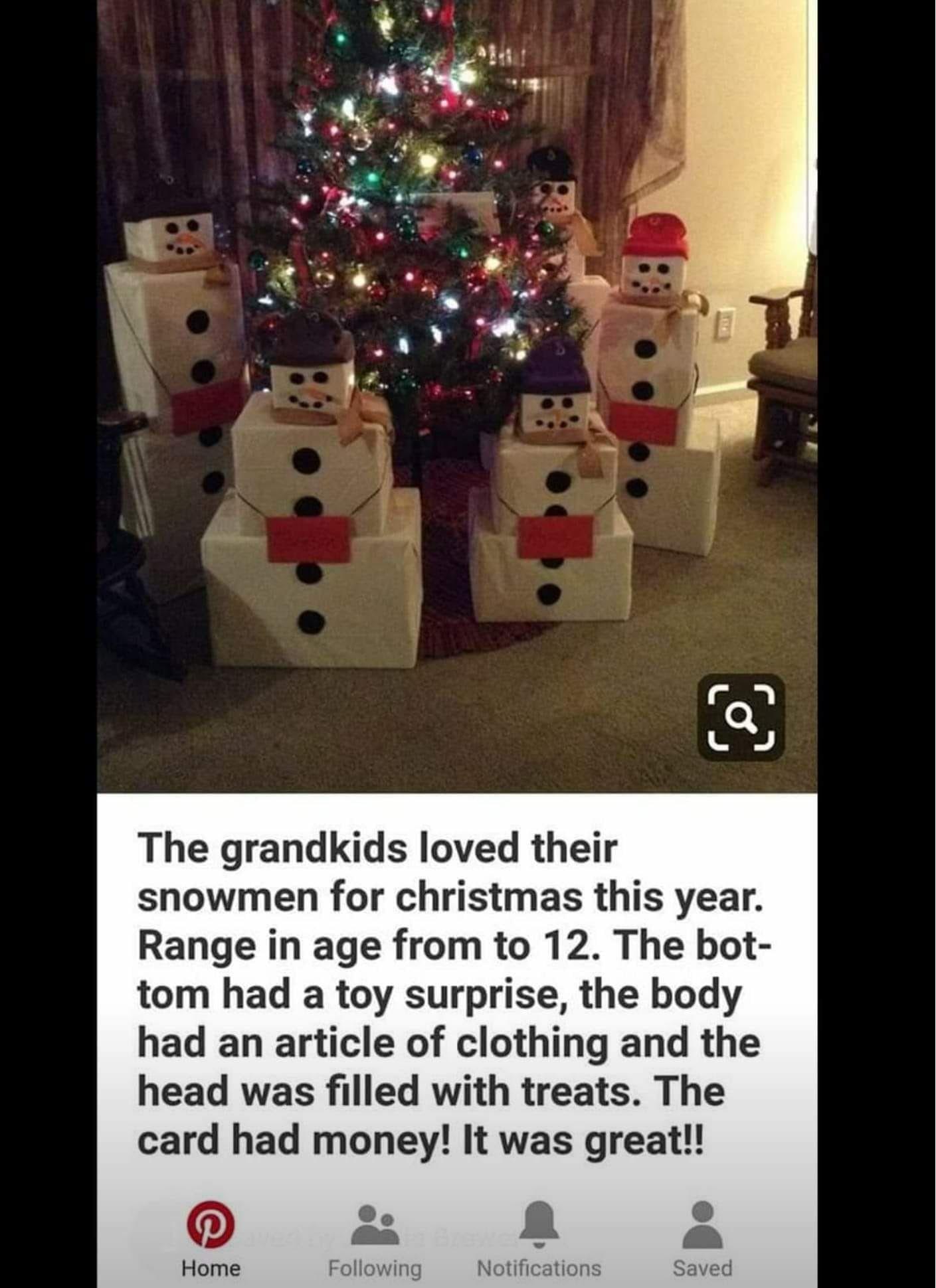 Cute t idea for Christmas Xmas Pinterest