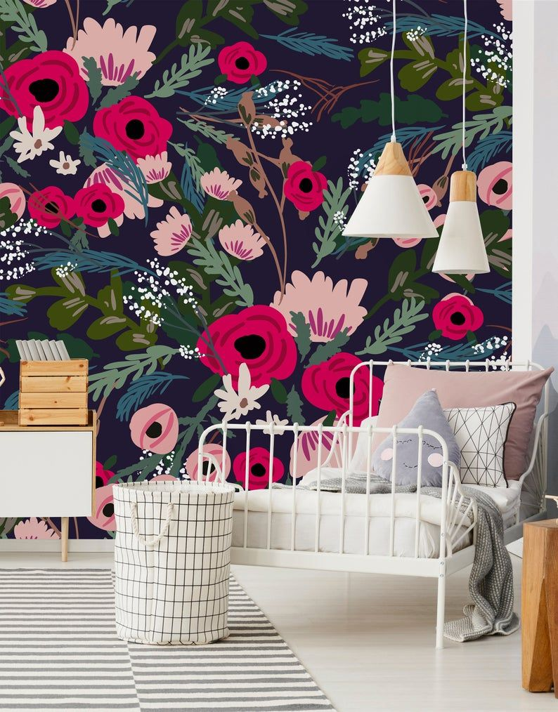 Peel-and-Stick Removable Wallpaper Abstract Nursery Baby Painted Modern Decor