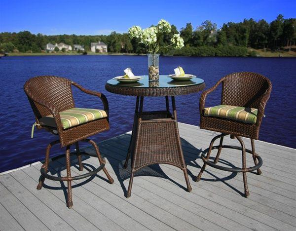 tortuga outdoor lexington 3 piece bar set home furniture and