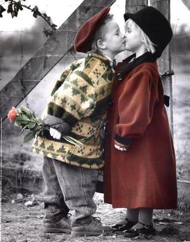 Best Friends Boys Kissing Girls Cute Kids Romantic Kiss