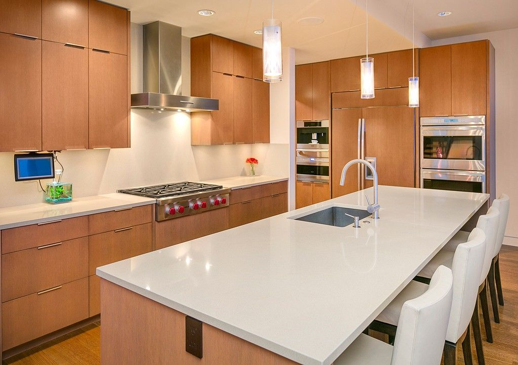 A sleek and modern kitchen with top of the line stainless
