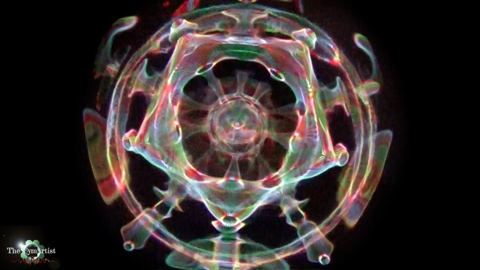 Cymatics experiment conducted only with Sound, Water and