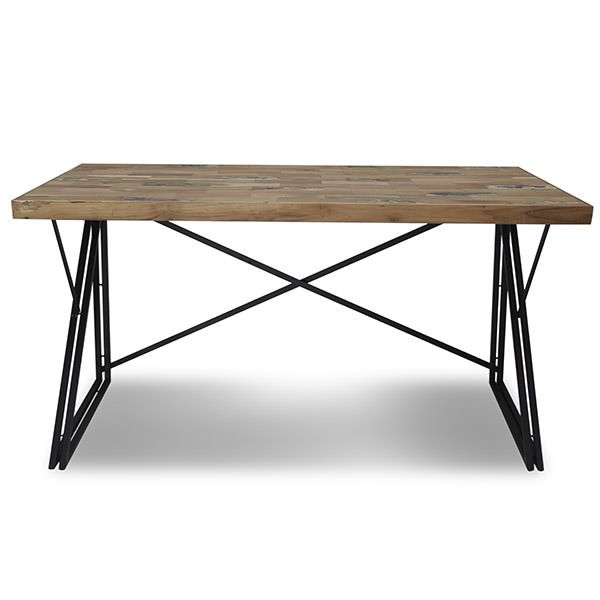his metal and wood working table is unique The metal legs have a