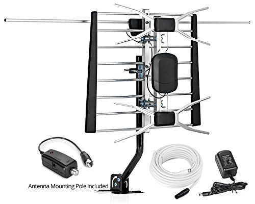 Viewtv Wa 2900g Uv Digital Amplified Outdoor Indoor Attic Hdtv Antenna With Mounting Pole 200 Miles Range With Images Hdtv Antenna