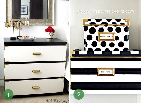 IKEA Hacks: Malm Campaign Dresser And Kate Spade Inspired Boxes