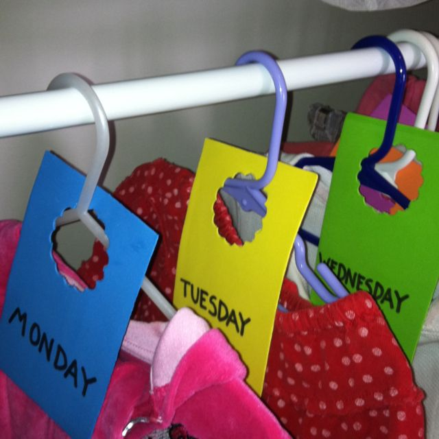 Weekday Outfit Hanger Tags Foam Paper Cool Scrapbook Hole Punch