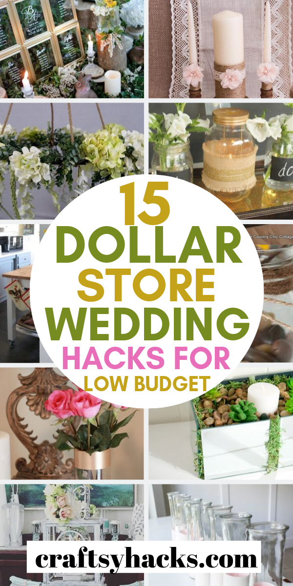 15 Dollar Store Wedding Hacks For Low Budgets In 2020 Simple Wedding Centerpieces Low Budget Wedding Dollar Tree Wedding Centerpieces