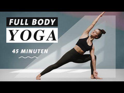 Yoga Ganzkörper Flow | 45 Minuten Bauch Beine Po Workout + Stretch