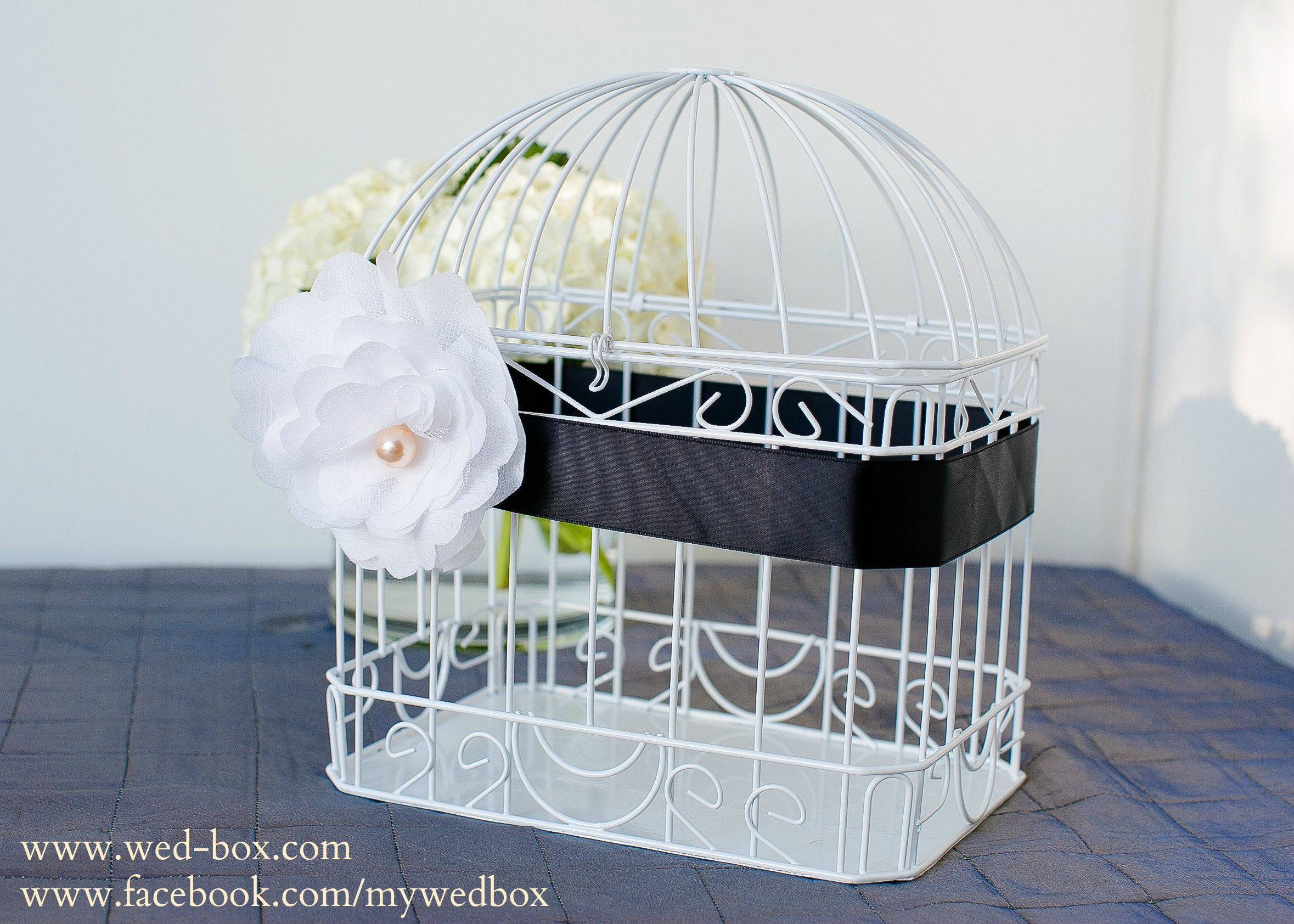White Bird Cage Wedding Card Holder Www Wed Box Com Rental Items