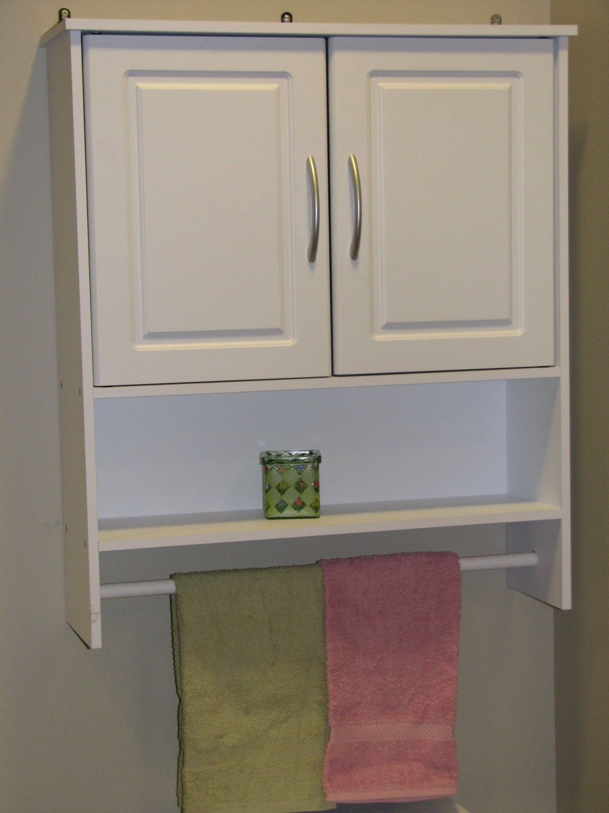 Bathroom Cabinet Fancy Wall Towel Bar Over