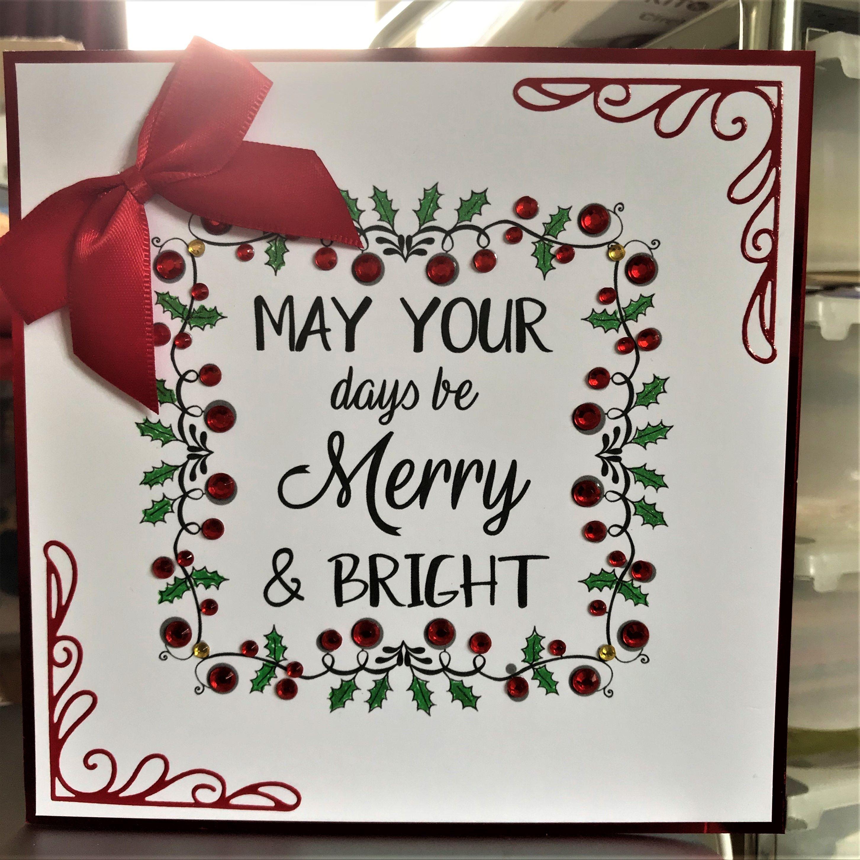165 Hunkydory Dots To Diamonds 6x6 Christmas Card