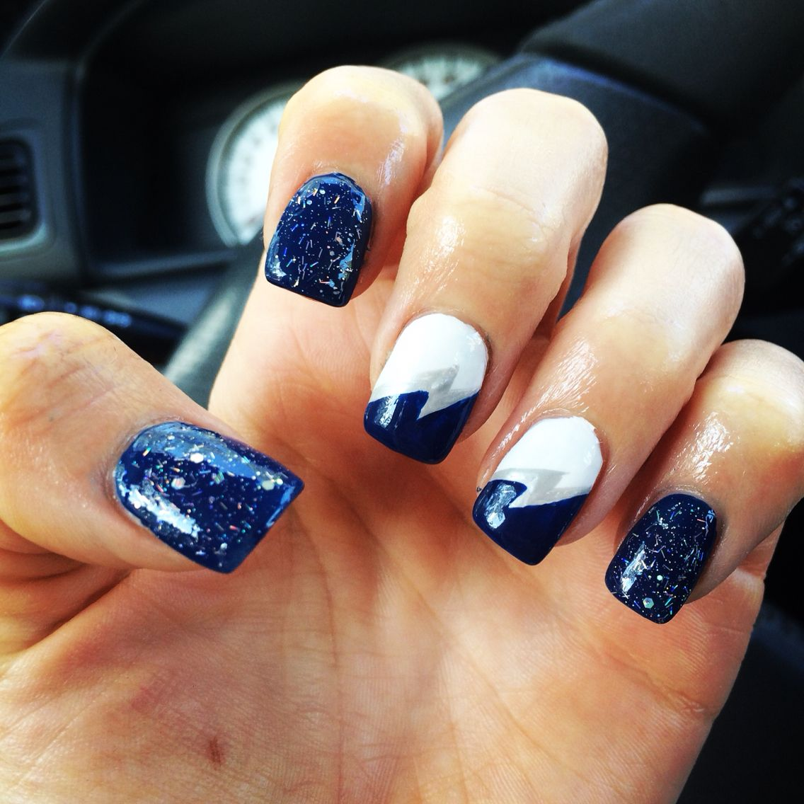 Tampa Bay Lightning Nail Art Go Bolts