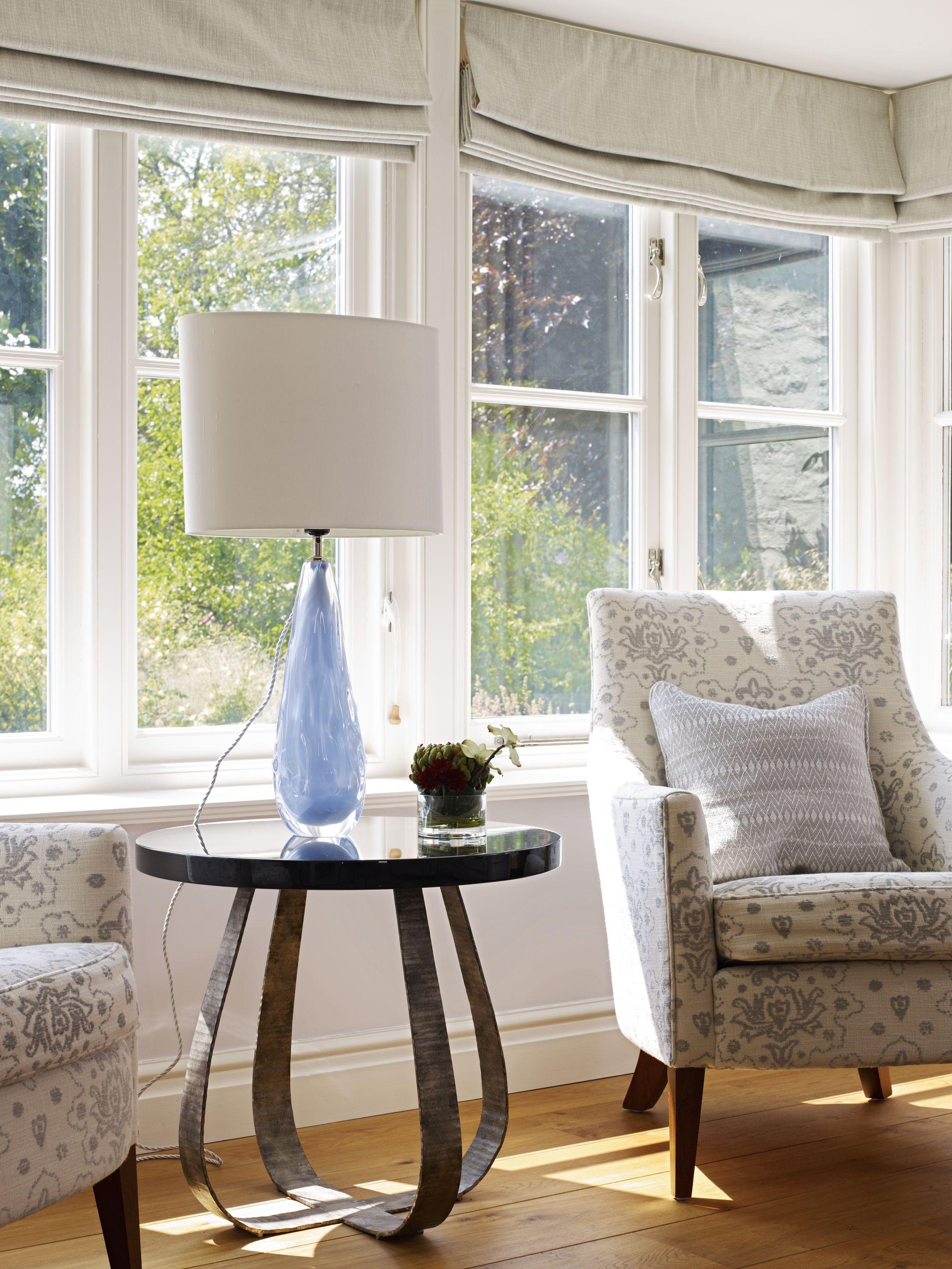 avacado lamp fig side table by porta romana interior design by