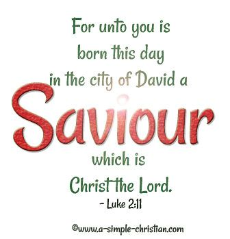 Christmas Bible Verse For Unto You Is Born This Day In The City Of David A