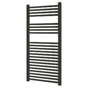 Blyss Towel Radiator 1100 x 500mm Black | Towel radiator ...