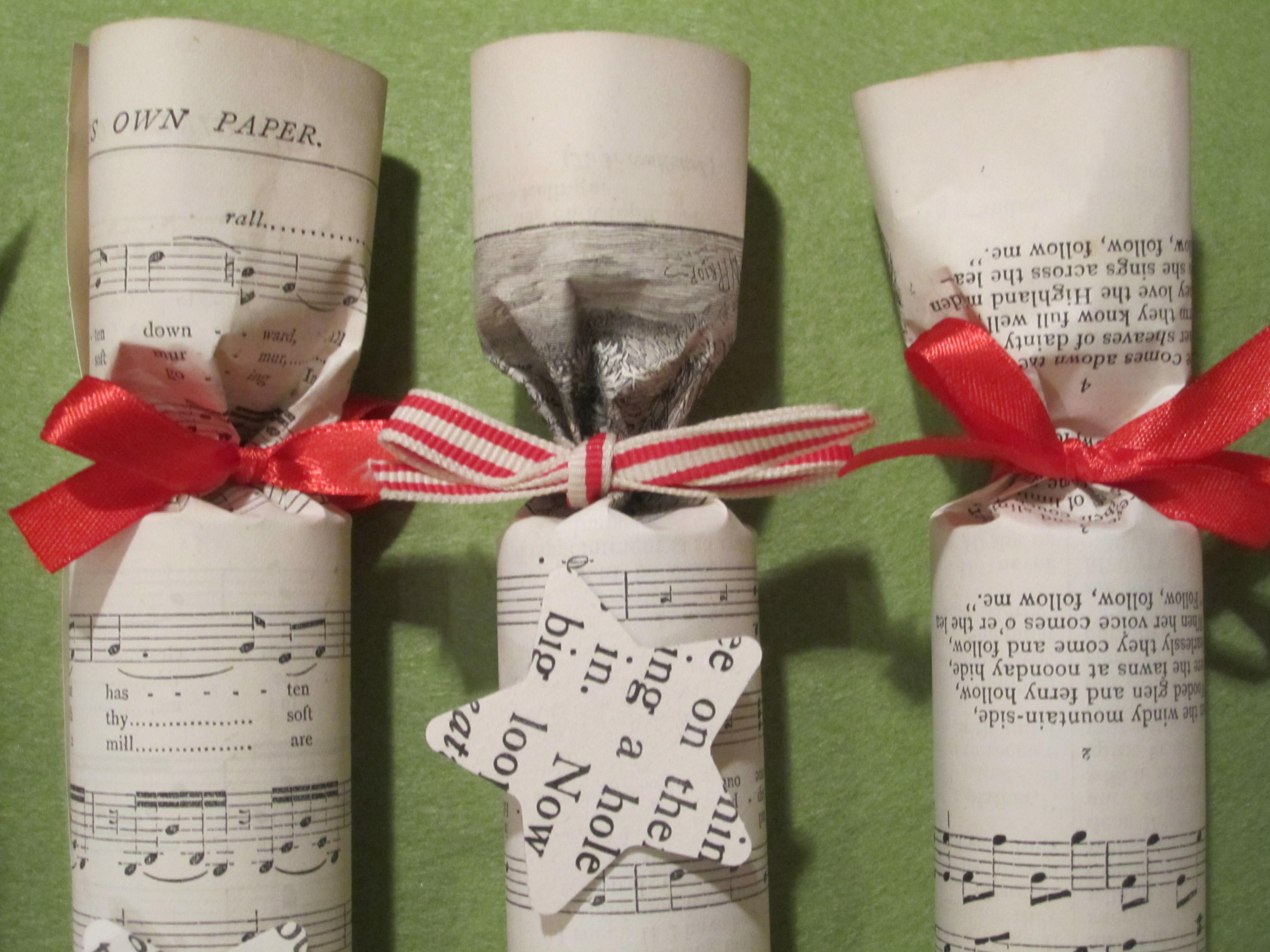 Christmas Crackers for the favours (you don't get to know until Christmas what the gift was!)