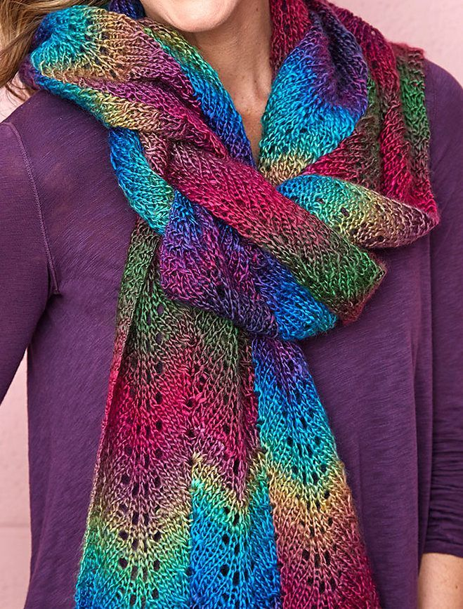 Free Knitting Pattern for 4-Row Repeat Bargello Scarf - This easy ...