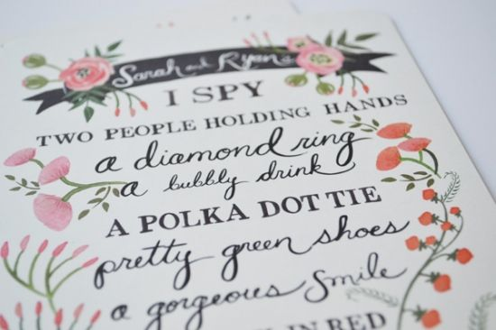 I Spy Wedding Game: Keep Your Guests Entertained With This