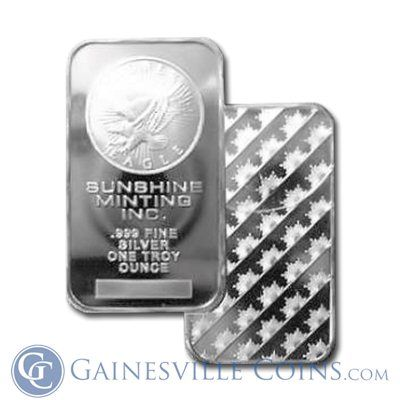 Sunshine Mint 10 Oz Silver Bar Silver Bars Silver Bullion Gold Bullion Bars