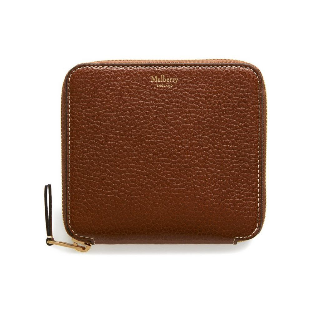 1a45778b900d Shop the Compact Zip Around Wallet in Oak Natural Grain Leather at Mulberry.com.  This zipped wallet has three compartments