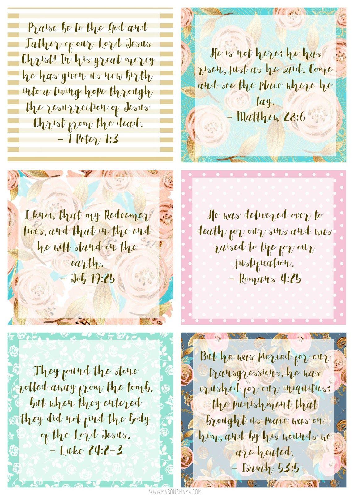 Easter Scripture Cards Easter Pinterest Easter Scriptures And
