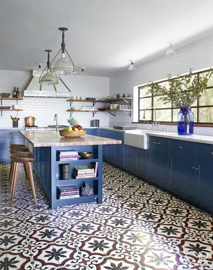 Elle Decor | Cucina | Kitchen, Kitchen flooring, Kitchen design