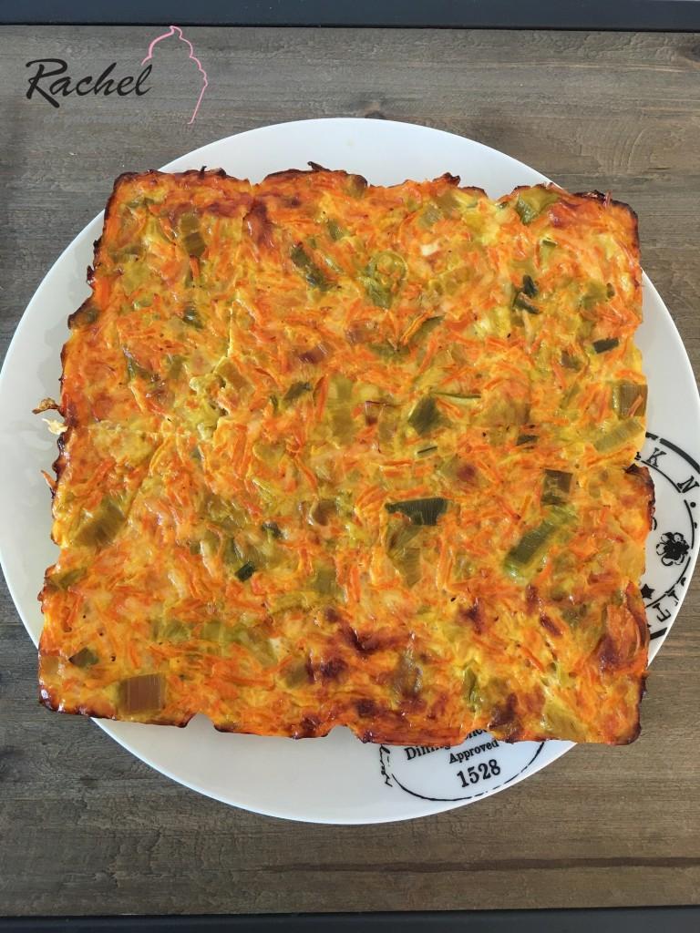 Gratin léger carottes et poireaux - Rachel cuisine