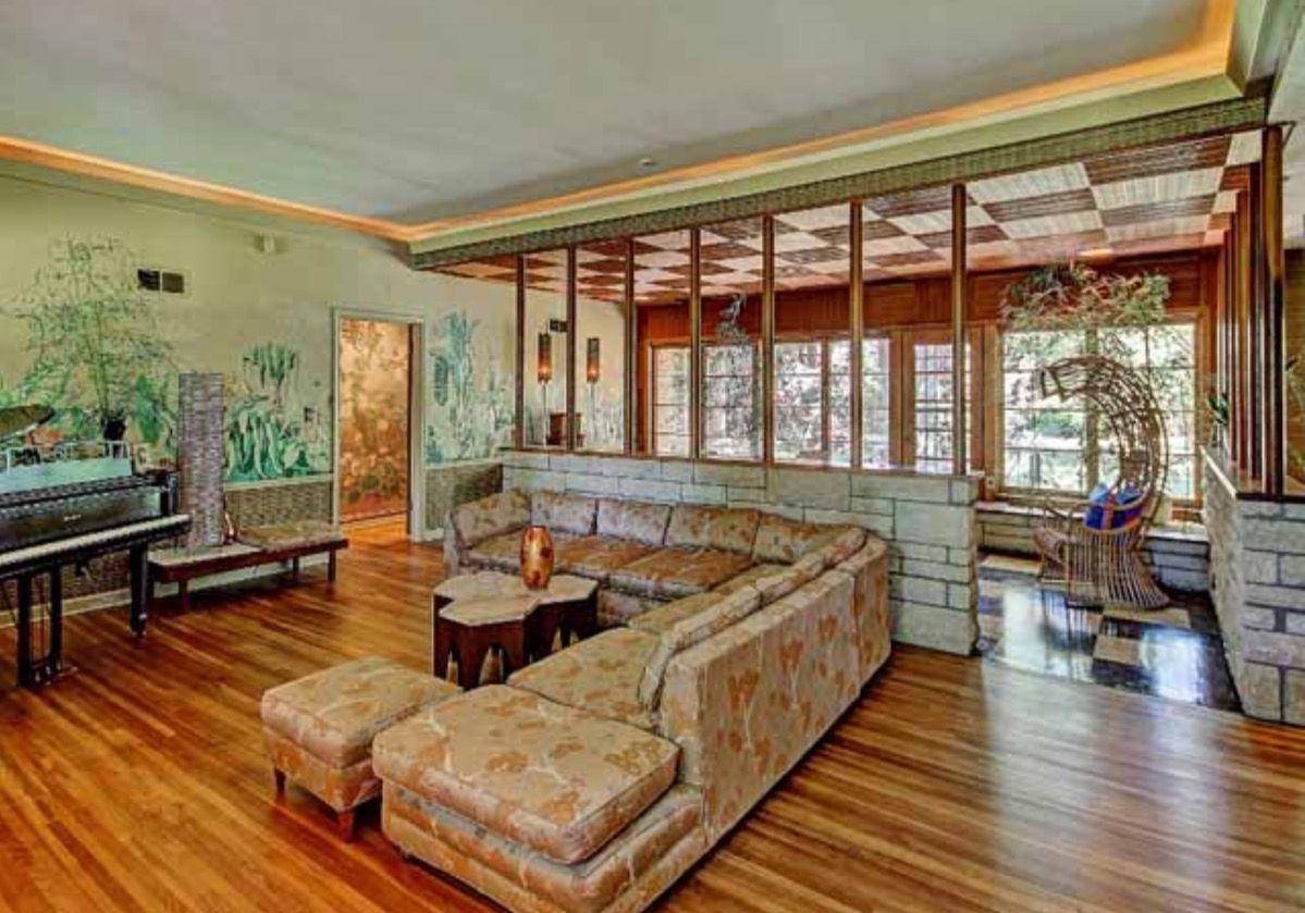 Elegant Mid Century Modern Sunroom