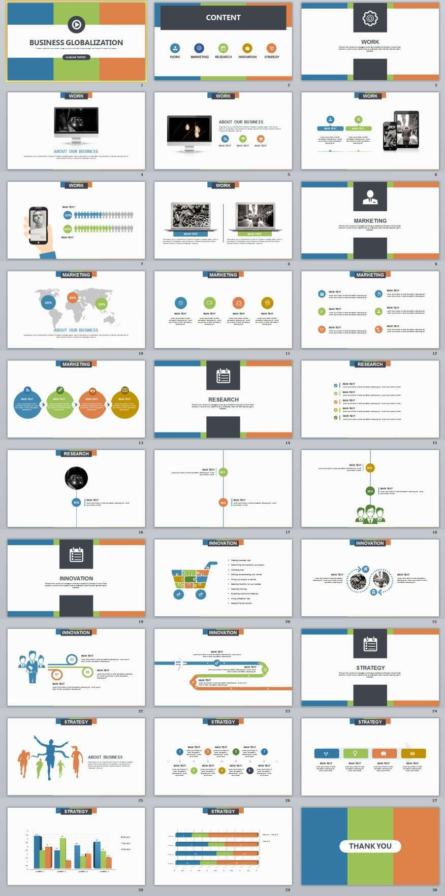 30 Multicolor Business Powerpoint Template Business Powerpoint