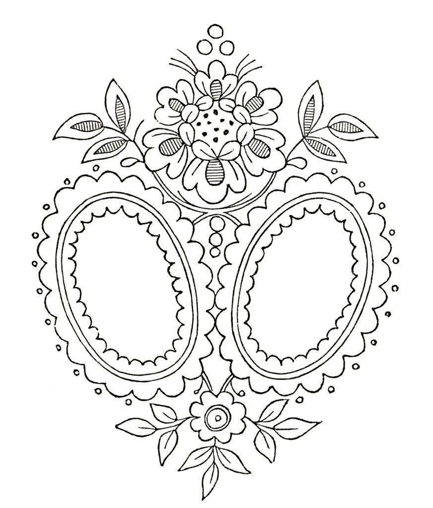 Vintage Monogram Embroidery Pattern! - The Graphics Fairy