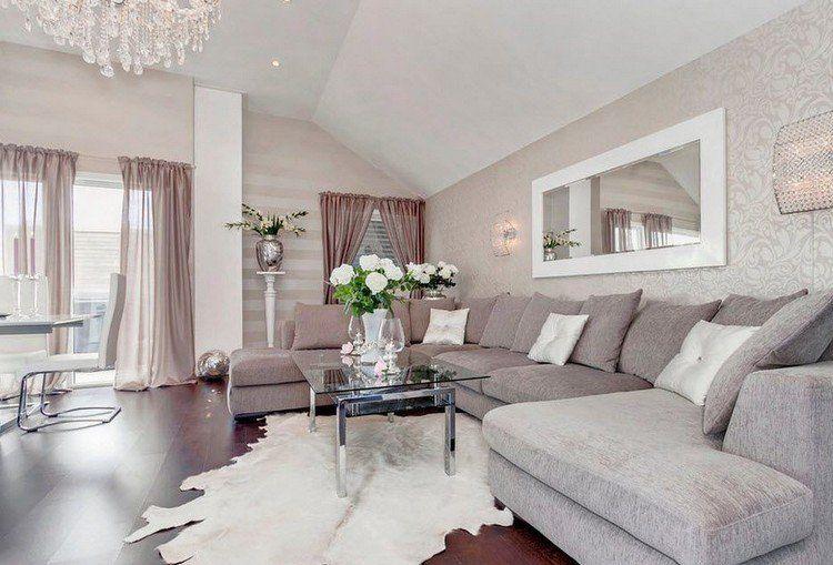 92dd8b40588 Déco salon gris blanc bois en 35 idées originales pour revitaliser votre  intérieur !