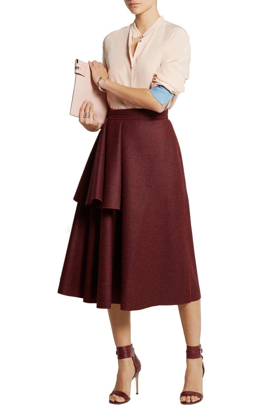 Avison draped wool-blend felt skirt | Roksanda | THE OUTNET