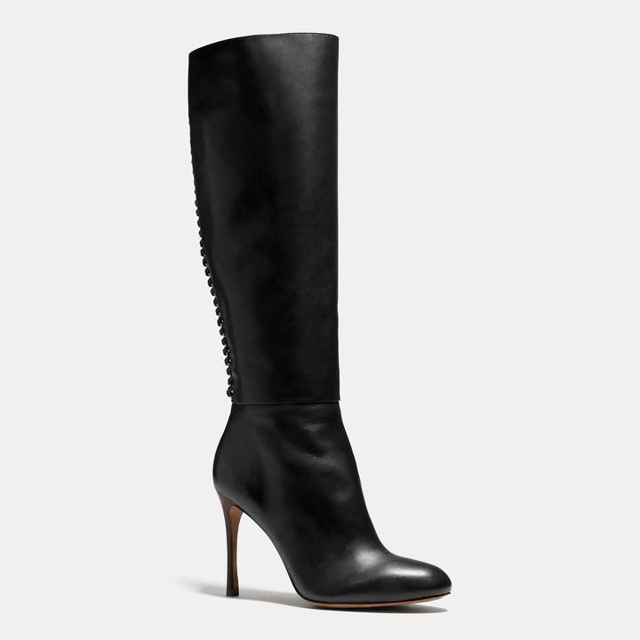 COACH NICKIE BOOT $450 by Coach at Coach Available Colors: Black Available  Sizes: 10