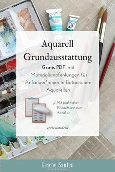 Malende Naturforscherinnen Mail Aquarell Aquarell Anfanger Und