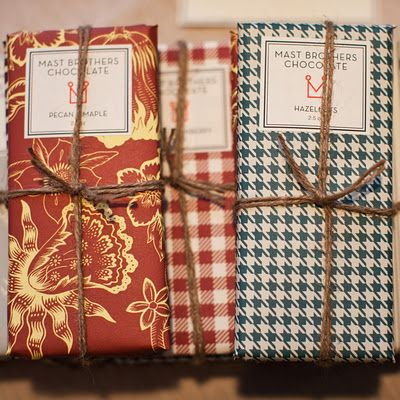 Mast Brothers Chocolate in charming papers :)