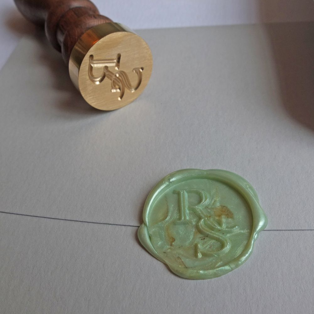 Wax Seal Letterpress Wedding Invitation - Wolf & Ink 2015 Collection