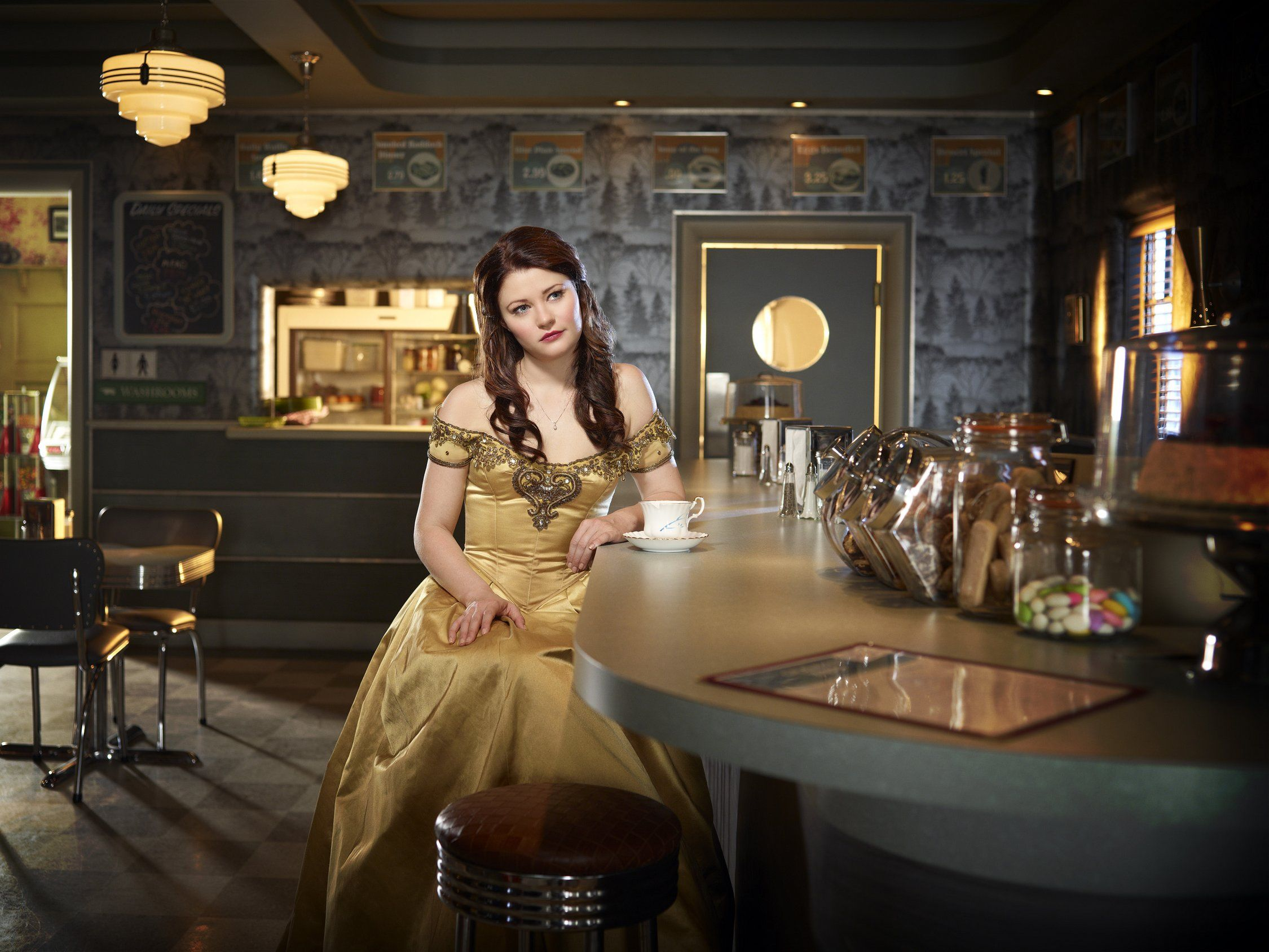 """Once Upon A Time S2 Emilie de Ravin as """"Belle French"""""""