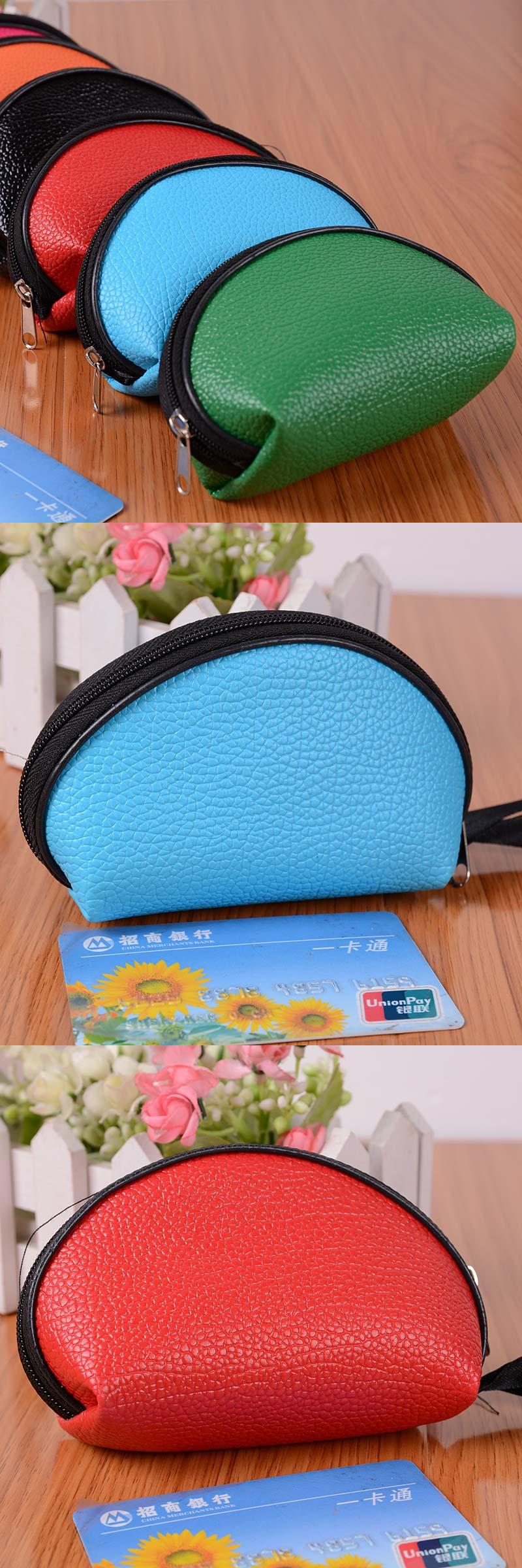 [Visit to Buy] New Designer Purse Girl Kawaii Bag With Zipper Pu Leather Coin Purses Small Women's Wallet Teen Girl Credit Card Pack 45 #Advertisement