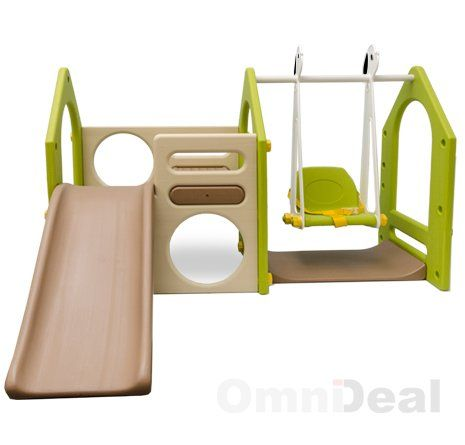 Maison pour Enfants avec toboggan et balançoire KS-111: Amazon.fr: Jeux et Jouets