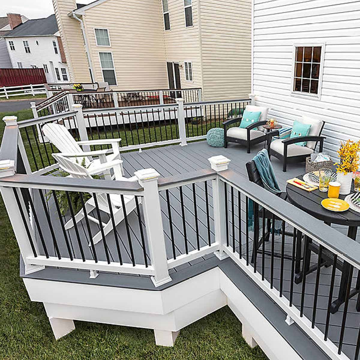 How To Calculate Trex Decking Cost For Your Project Deck Designs Backyard Deck Cost House Deck