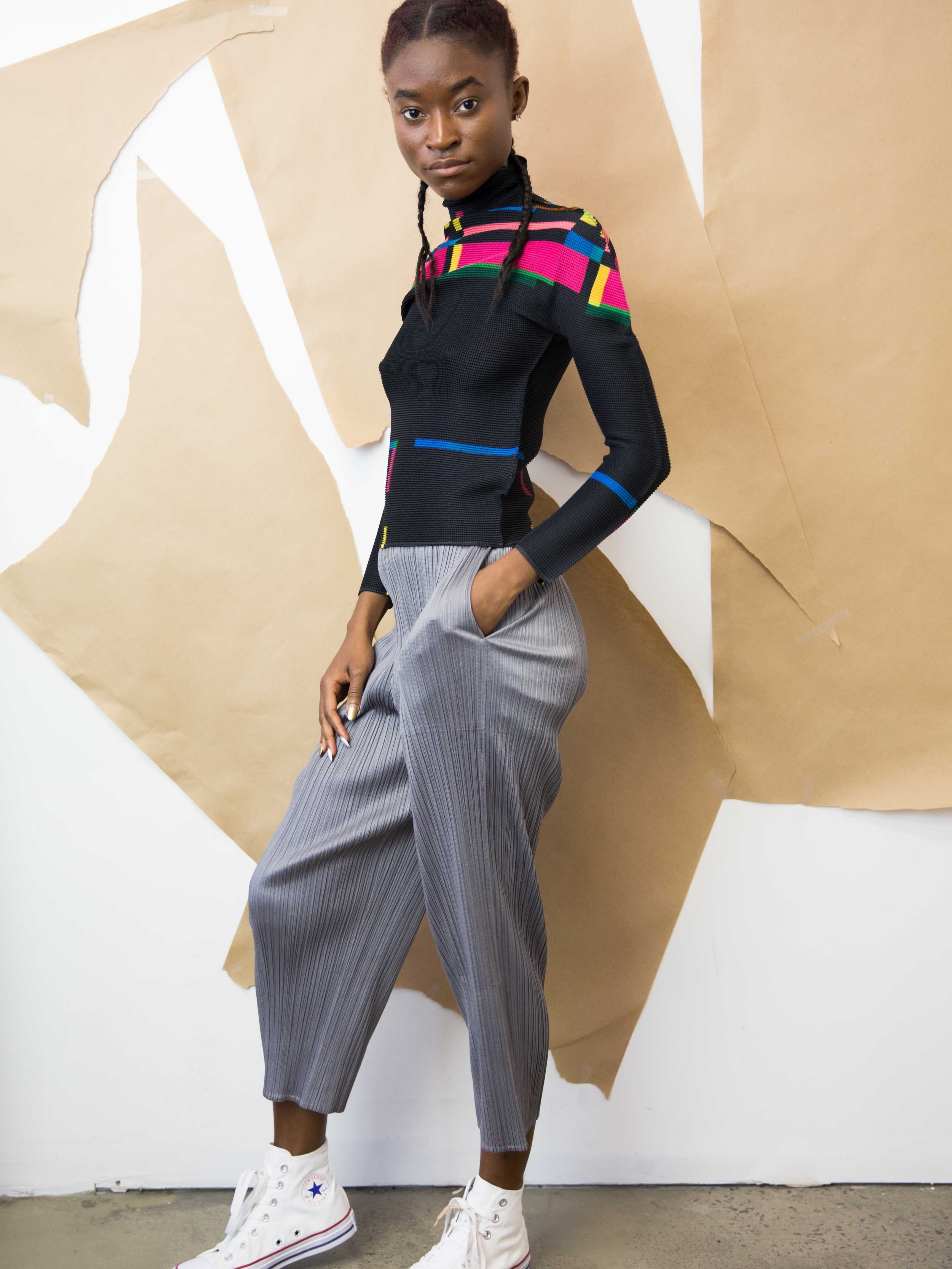 7f37bfb33d33f PLEATS PLEASE ISSEY MIYAKE Basics Cropped Pants with Pockets ...