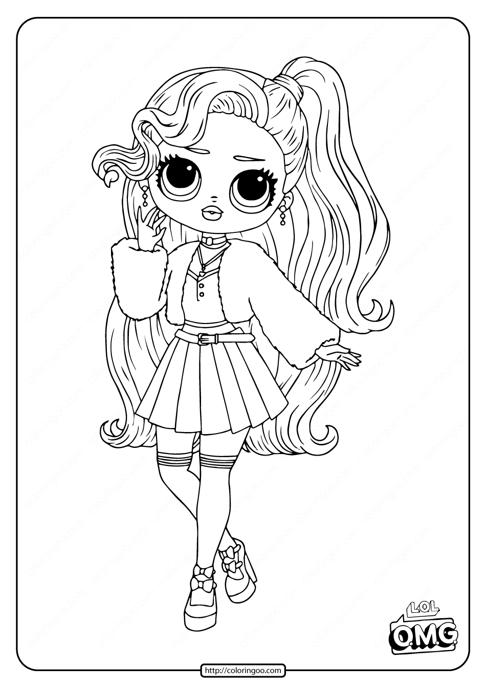 Lol Surprise Omg Pink Baby Coloring Page Baby Coloring Pages Unicorn Coloring Pages Cool Coloring Pages