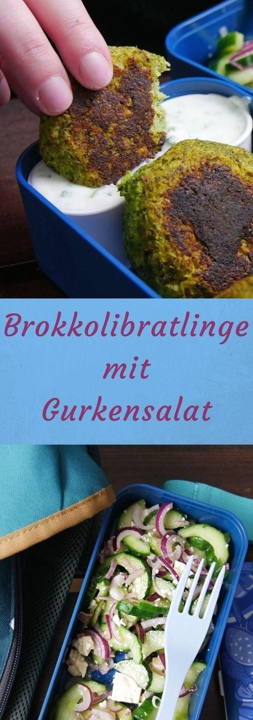 Broccoli patties with cucumber salad #lowcarbveggies