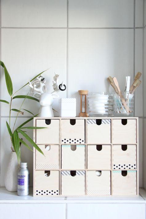 Badezimmer-Aufbewahrung | DIY | Badezimmer lagerung, Badezimmer ...