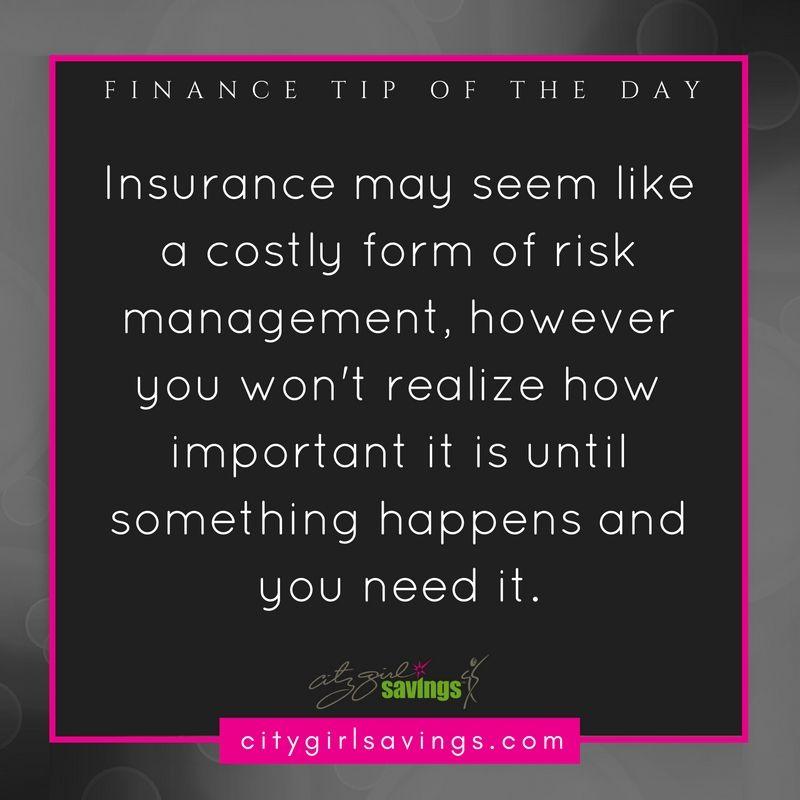 Finance 101 insurance 101 city girl savings in 2020
