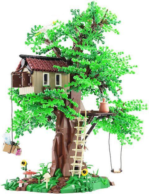 Lego Tree House By Legopard Lego Tree House Lego Tree Lego House