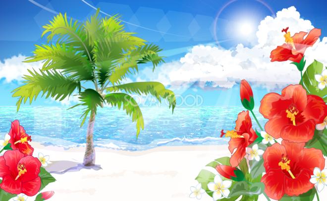 海 イラスト 綺麗 の画像検索結果 ヤシの木 イラスト イラスト 沖縄 イラスト