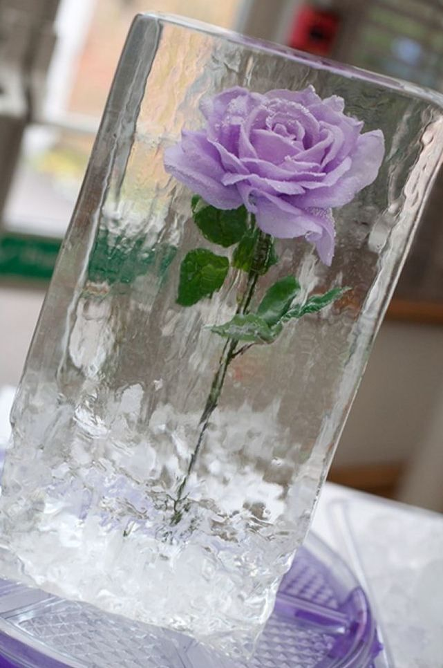 Thinking small ice sculptures like this one on each