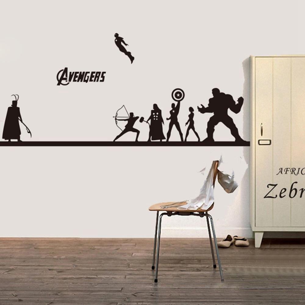 Creative diy the avengers wall sticker iron man u hulk u captain
